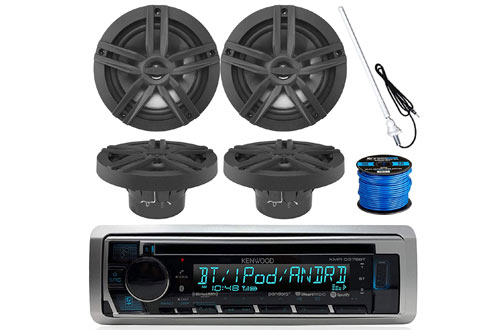 Kenwood Marine Boat Bluetooth CD MP3 USB/AUX iPod iPhone Stereo Receiver