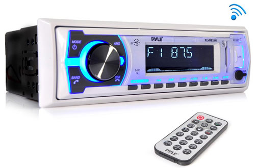 Pyle Marine Bluetooth Stereo Radio with Remote Control