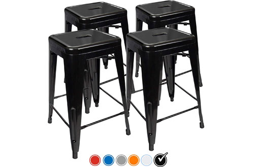 UrbanMod Indoor/Outdoor Bar Stools for Kitchen Counter Height