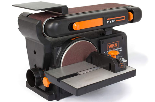 WEN 6502T 4 x 36 in. Belt and 6 in. Disc Sander with Cast Iron Base