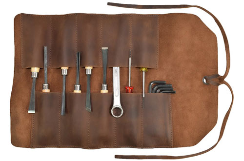 Hide & DrinkRustic Homemade Leather Small Tool Bag