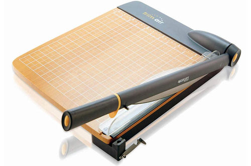 Westcott TrimAir Titanium Wood Guillotine Paper Trimmer