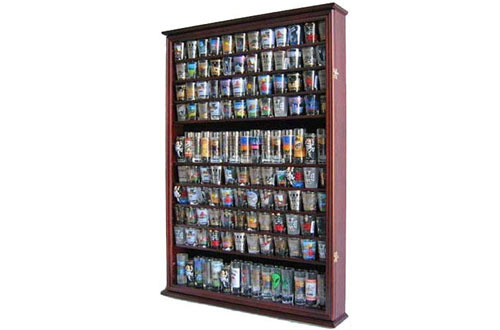 DisplayGifts Large 144 Shot Glass Shooter Display Case