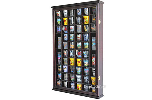 DisplayGifts 56 Shot Glass Shooter Display Case with DOOR