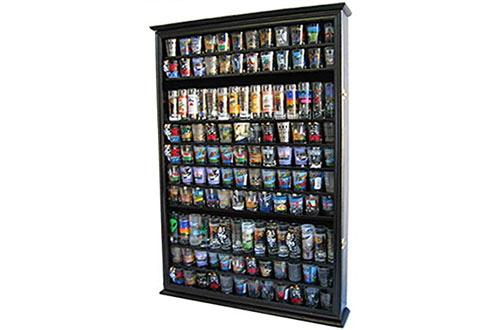 DisplayGiftsLarge 144 Shot Glass Display Case Holder Cabinet