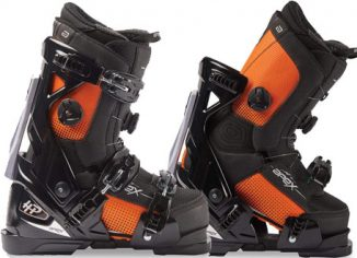 Apex HP All-Mountain Mens Ski Boots in a Walkable Boot System with Open-Chassis Frame
