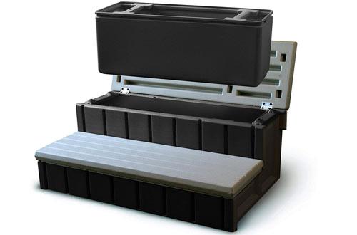 Confer Plastics Gray Spa Step with Storage