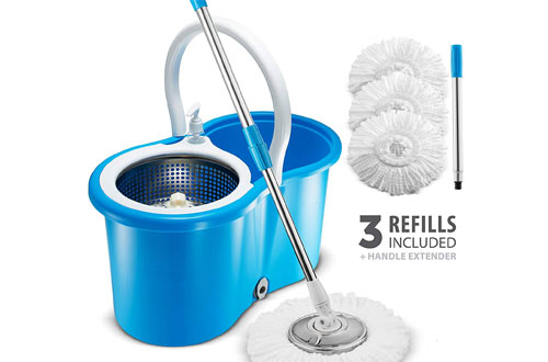 Premium All Stainless Steel Spin Mop and Bucket System