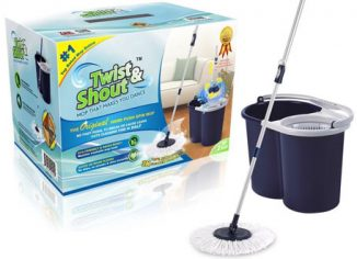 Twist and Shout Mop Award-Winning Original Hand Push Spin Mop
