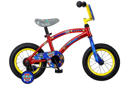 Nickelodeon Paw Patrol Boy's Balance Bicycle with Training Wheels