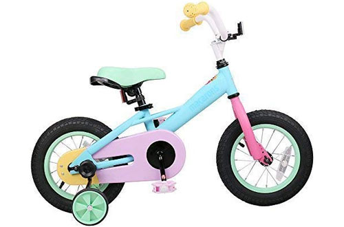 JOYSTAR Girls Bicycle with Training Wheels and Coaster Brake