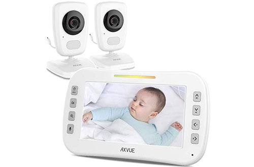 AXVUE E632 Video Baby Monitor with Two Cameras and 5-Inch LCD