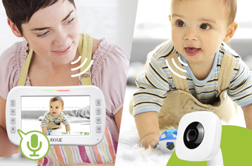 AXVUE E612 Video Baby Monitor with LCD Screen, Cameras & Night Vision