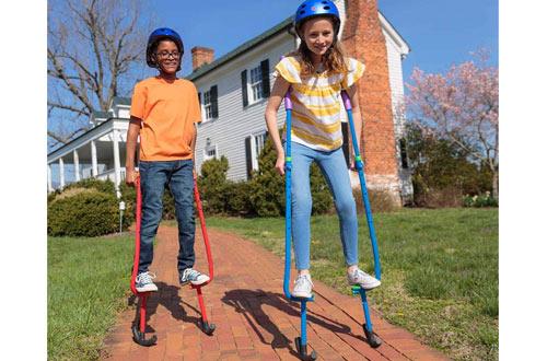 HearthSong Feats Adjustable Metal Walking Stilts for Kids