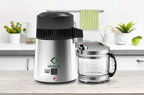 Life BasisStainless SteelWater Distiller To Make Clean Water for Home Use