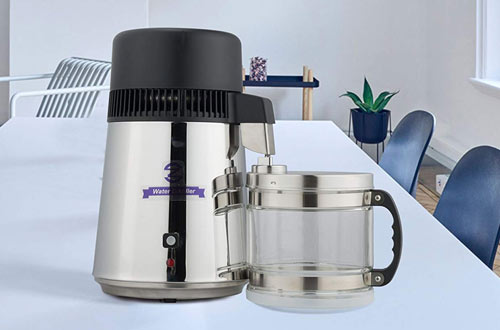CO-Z Stainless Steel Pure Water Distiller Machine for Countertop Table Desktop