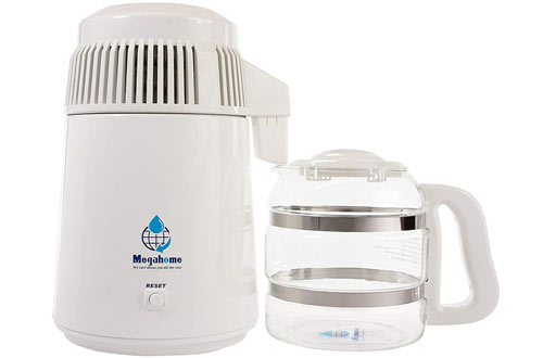 Megahome White Countertop Water Distiller