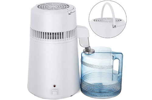 Mophorn Countertop Water Distiller 750W Distillted Purifier Filter with Handle