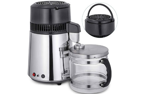 VEVORElectric750W CountertopWater Distiller withGlass Container