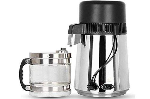 ECO LLC 4L 110V Stainless Steel Water Distiller Purifier Boiler for Home & Lab