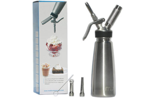 Mediterranean Ways Stainless Steel Whipped Cream Maker
