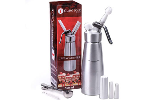 Gorgeous Kitchen Professional Whipped Cream Dispenser