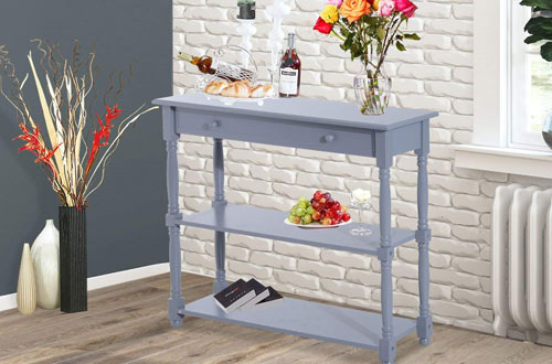 HOMCOM 40-Inch Wood Entryway Console Table