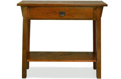 Leick Mission Hall Russet Console Table