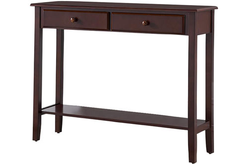 Kings Brand Furniture Wood Console Table with Drawers