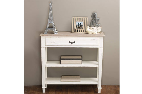 Baxton Studio Dauphine Traditional French Whit Accent Console Table