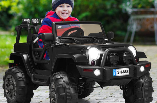 Costzon 12V Battery Powered Electric Ride On Car & Truck with Bluetooth Parental Remote Control