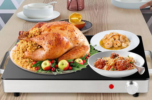 Giantex Warming Tray with Overheat Protection Safe Cool Side Handles