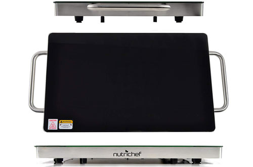 NutriChef Professional Warming Tray - Food Warmer - Hot Plate for Buffets
