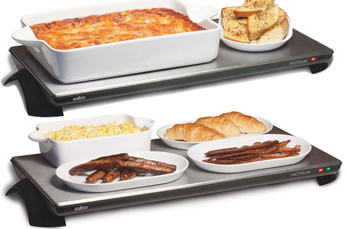 Salton TWT-40 Silhouette Cordless Stainless-Steel Warming Tray