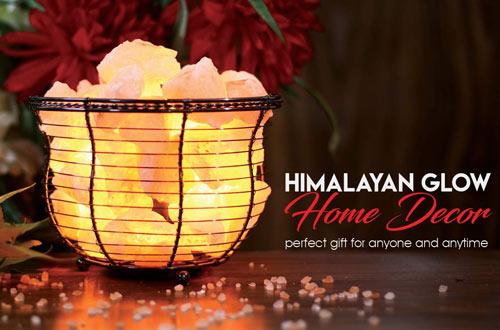 Himalayan Glow HS-1301B Natural Salt Lamp -Amber Glow