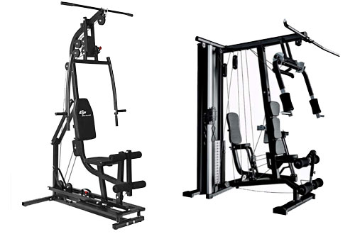 Goplus Home Gym Station Machine for Total Body Training Max Load 330LBS
