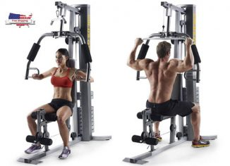 Gold's Gym XRS 50 Compact Home Gym with High & Low Pulley System