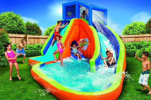 BANZAI Sidewinder Falls Inflatable Water Slide