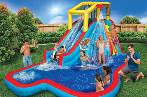 BANZAI Splash Kid Inflatable Water Slide for Park Play Center