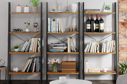 Homfa 4-Tier Vintage Bookshelf