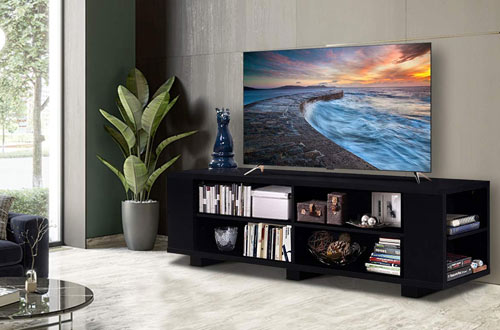 Tangkula Modern Wood Storage TV Stand Console Entertainment Center