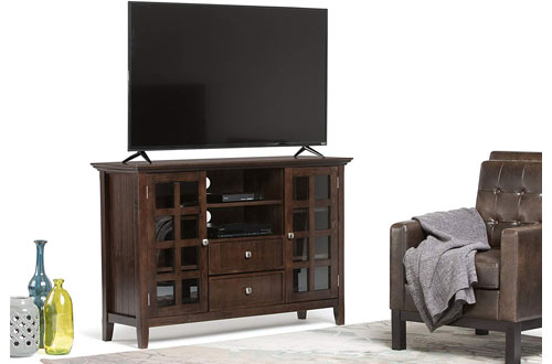 Simpli Home Acadian Solid Wood Rustic TV Media Console