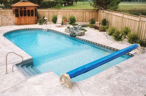 Aqua Splash 18 Ft. In-Ground Pool Solar Cover Blanket Reel