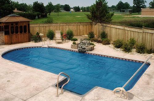 Aqua SplashIn Ground SwimmingSolar Cover Blanket Reel