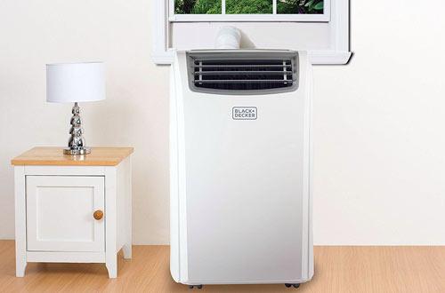 BLACK and DECKER 14000 BTU White Portable Air Conditioner with Remote