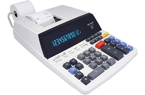 Sharp EL-1197PIII Color Printing Calculator with Clock & Calendar