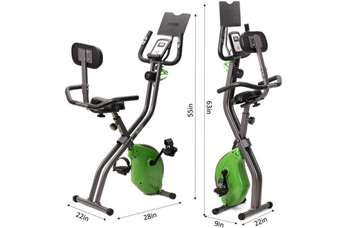 ShareVgo Folding Semi-Recumbent Magnetic Upright Exercise Bike
