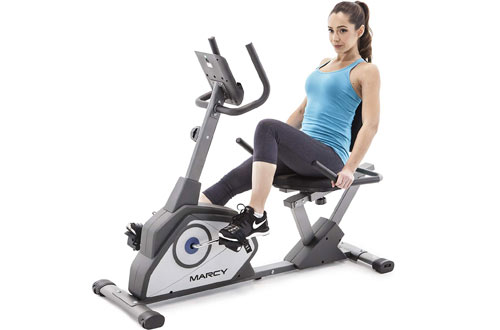 Marcy NS-40502R Magnetic Recumbent Exercise Bike with 8 Resistance