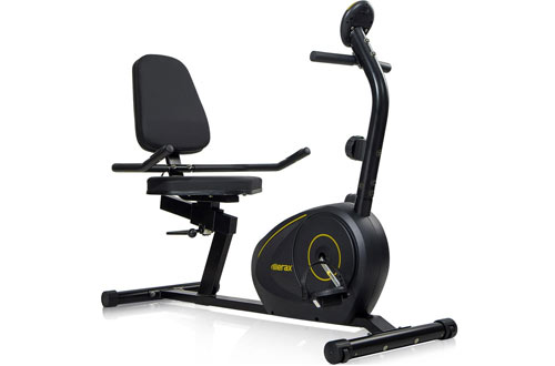Merax Magnetic Recumbent Exercise Bike with Quick Adjust Seat