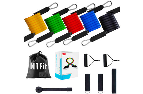 N1Fit Resistance Bands Workout with Handles